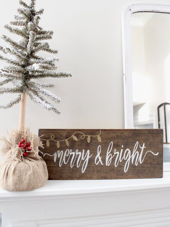 Christmas wood stain sign is easy to make yourself