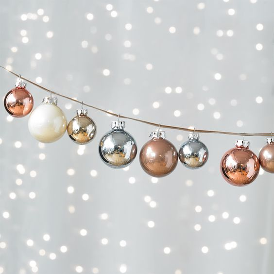 copper, ivory and silver ornaments look cool together