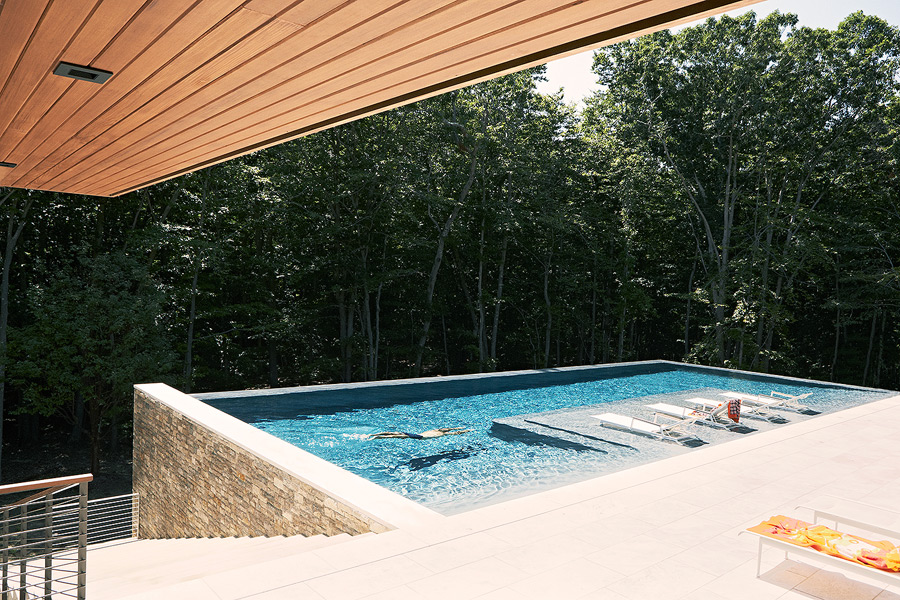 A pool and terrace let the owners sunbathe and enjoy nature as close to it as it's possible