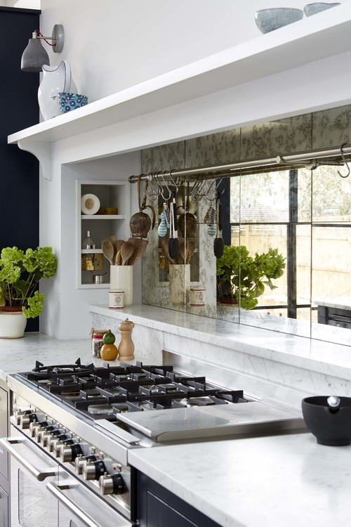 Functionality and beautiful decor united in this kitchen to make up a cool space