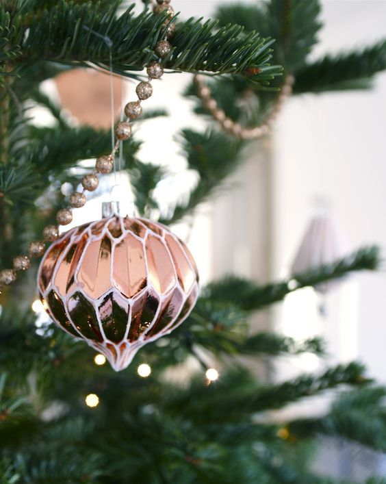 vintage copper Xmas ornaments
