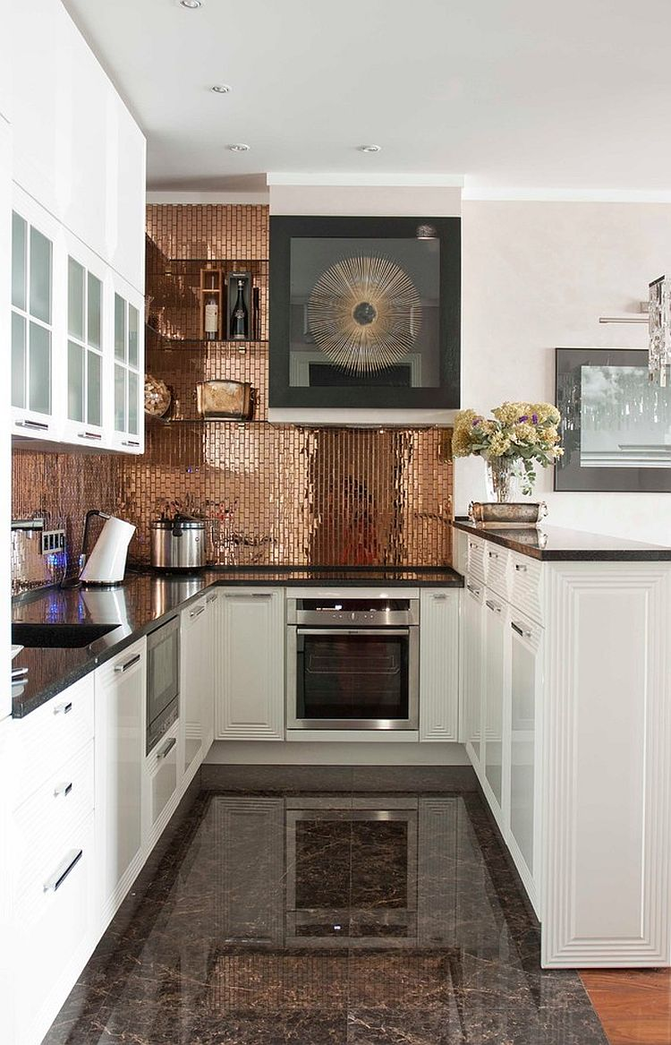 - 39 Trendy And Chic Copper Kitchen Backsplashes