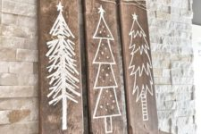 14 rustic white winter signs for mantel decor