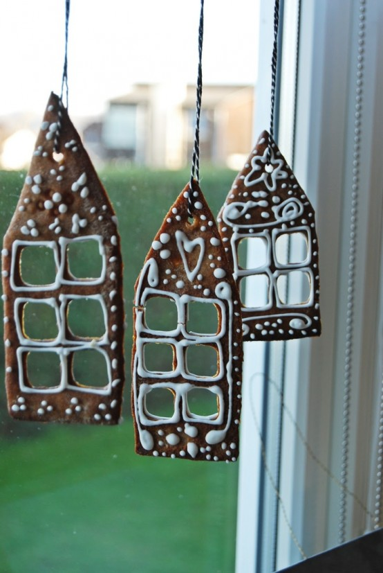 bake some gingerbread cookies and hang them