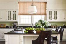 17 sage green beadboard backsplash can make an accent in a neutral kitchen