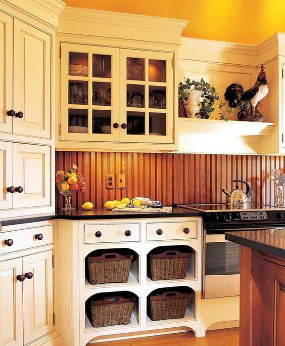 Kitchen Backsplash Beadboard 25 beadboard kitchen backsplashes to add a cozy touch - digsdigs