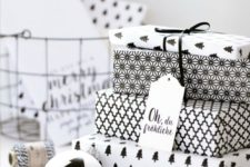 19 creative printed monochrome gift wrapping paper