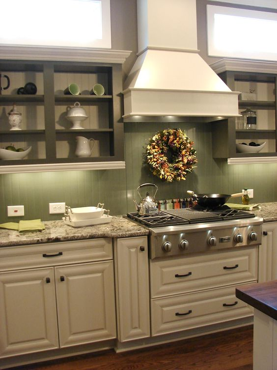 Green Colored Kitchen Walls
