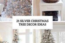 21 silver christmas tree decor ideas cover