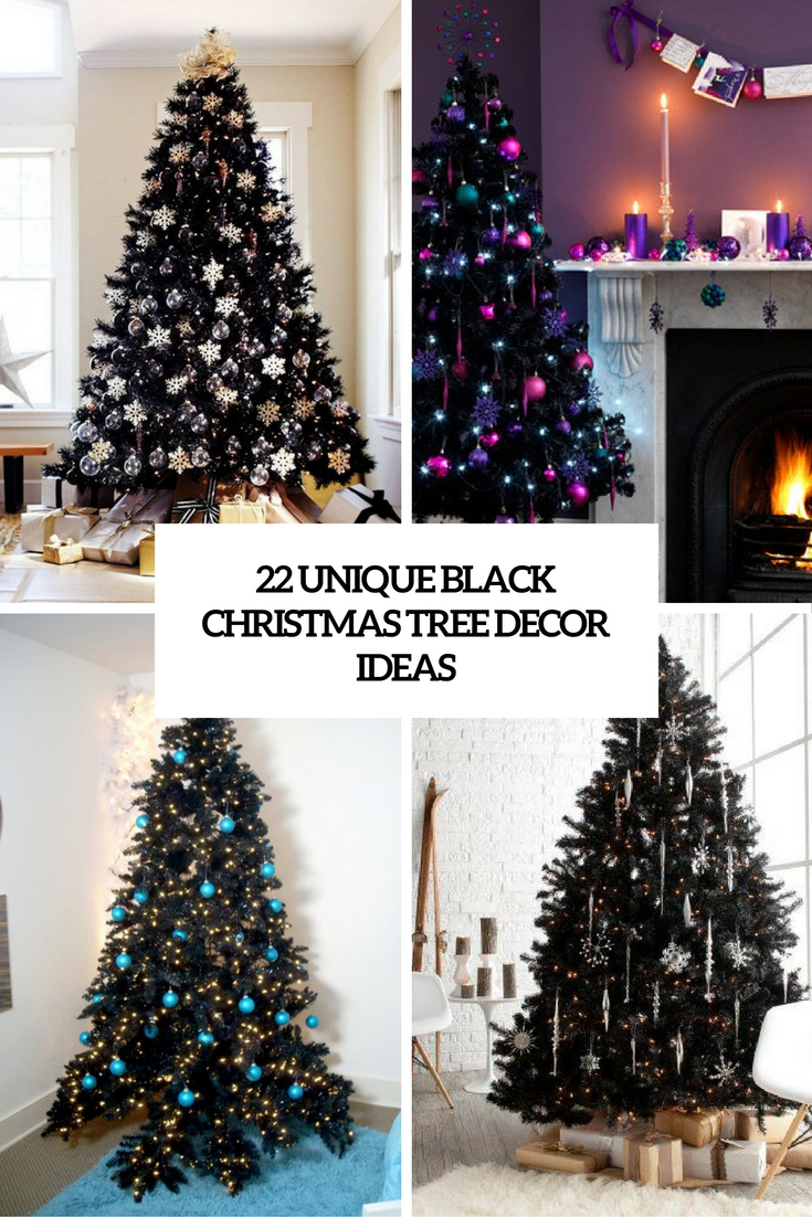 black christmas tree decor ideas cover - Unique Christmas Tree Decorations