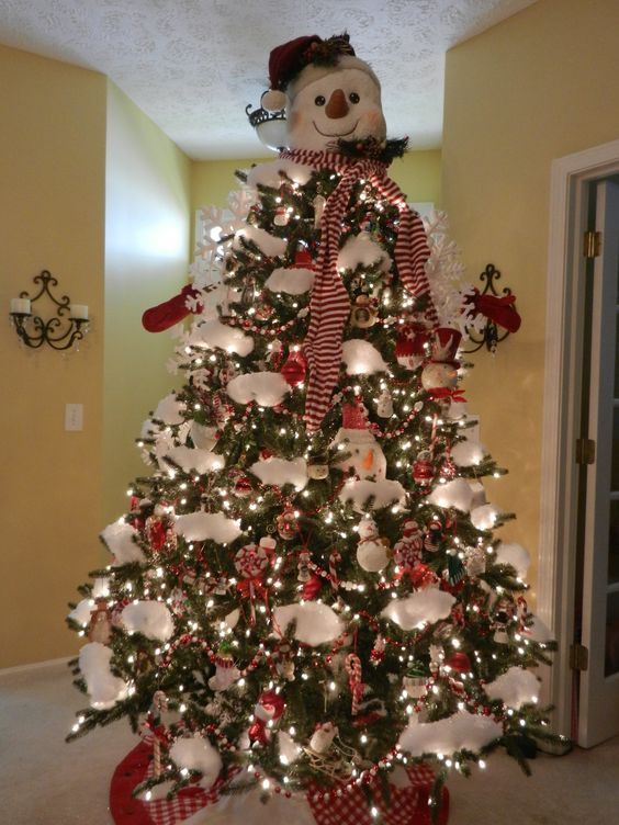 top your Christmas tree with a snowman head