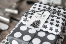 24 polka dot and star wrapping paper for gifts