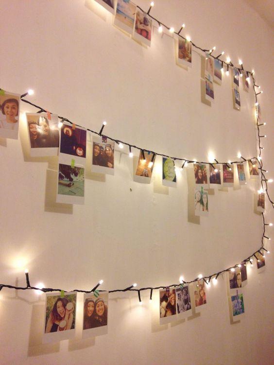 44 best christmas card display ideas digsdigs - Fairy light decoration ideas ...