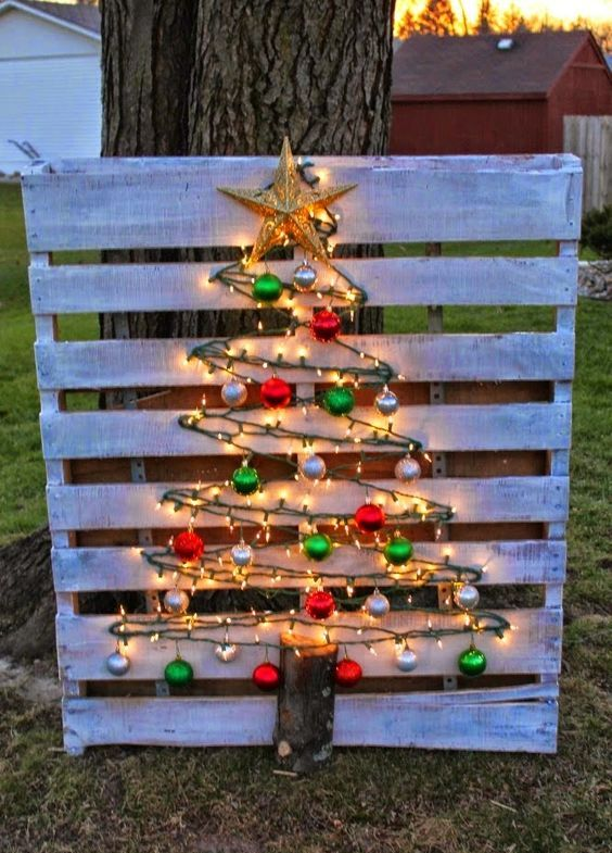 Wooden Letter Christmas Tree Decorations : Reclaimed wood christmas d?cor ideas digsdigs