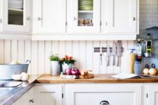 26 beadboard backsplash is susceptible  to dirt, grime, grease and food particles