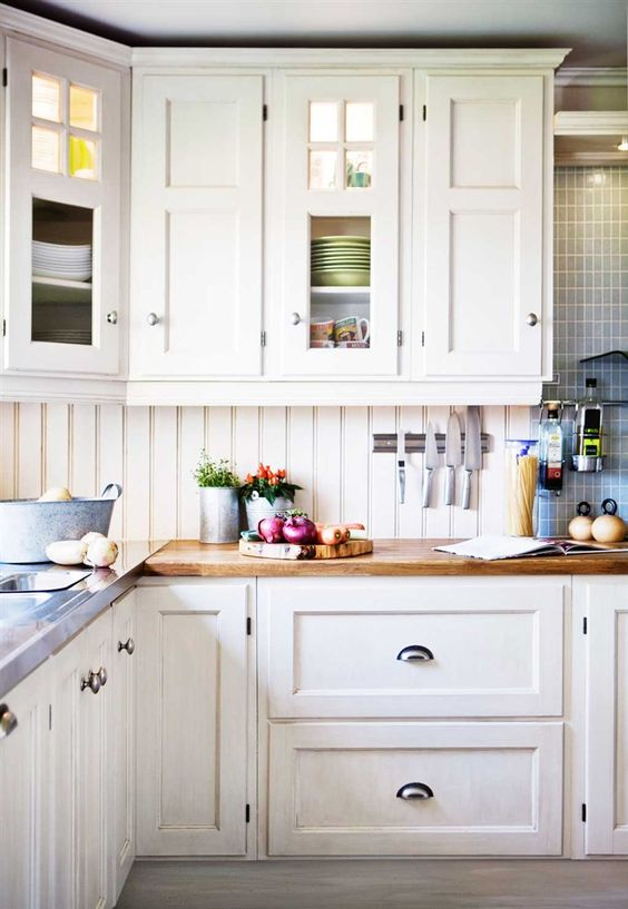 beadboard backsplash is susceptible to dirt grime grease and food