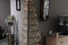 27 angle pallet Christmas tree with lights