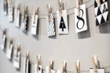 29 easy to make monochrome advent calendar