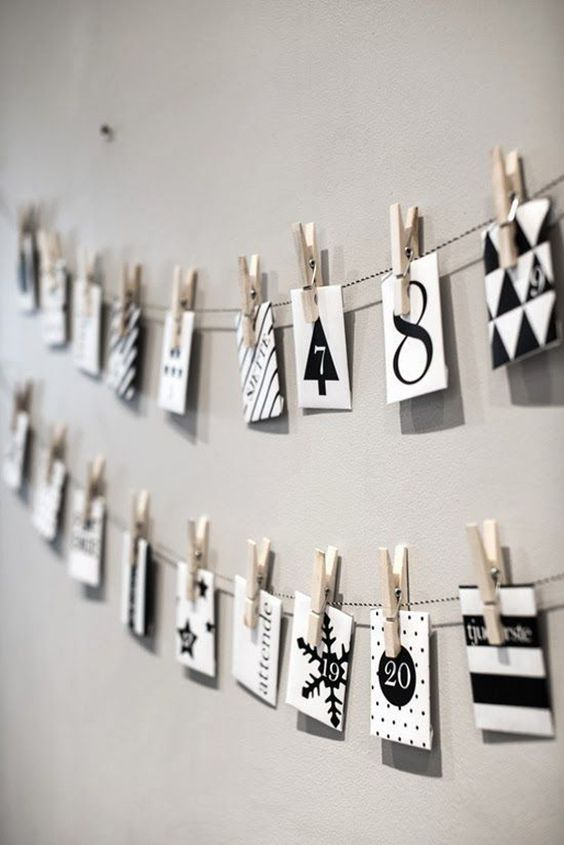 easy to make monochrome advent calendar