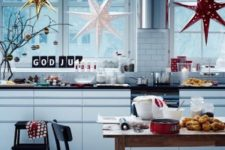 29 these IKEA star pendants create a stunning silhouette to add to your windows