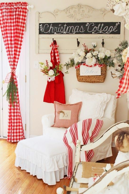red and white textiles for decorating your home