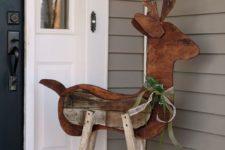 31 reclaimed wood reindeer for outdoor decor