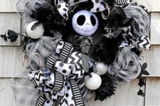32 Nightmare before Christmas deco mesh wreath