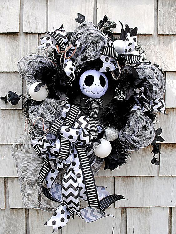 Nightmare before Christmas deco mesh wreath