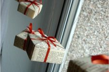 33 gift boxes hanging by the window