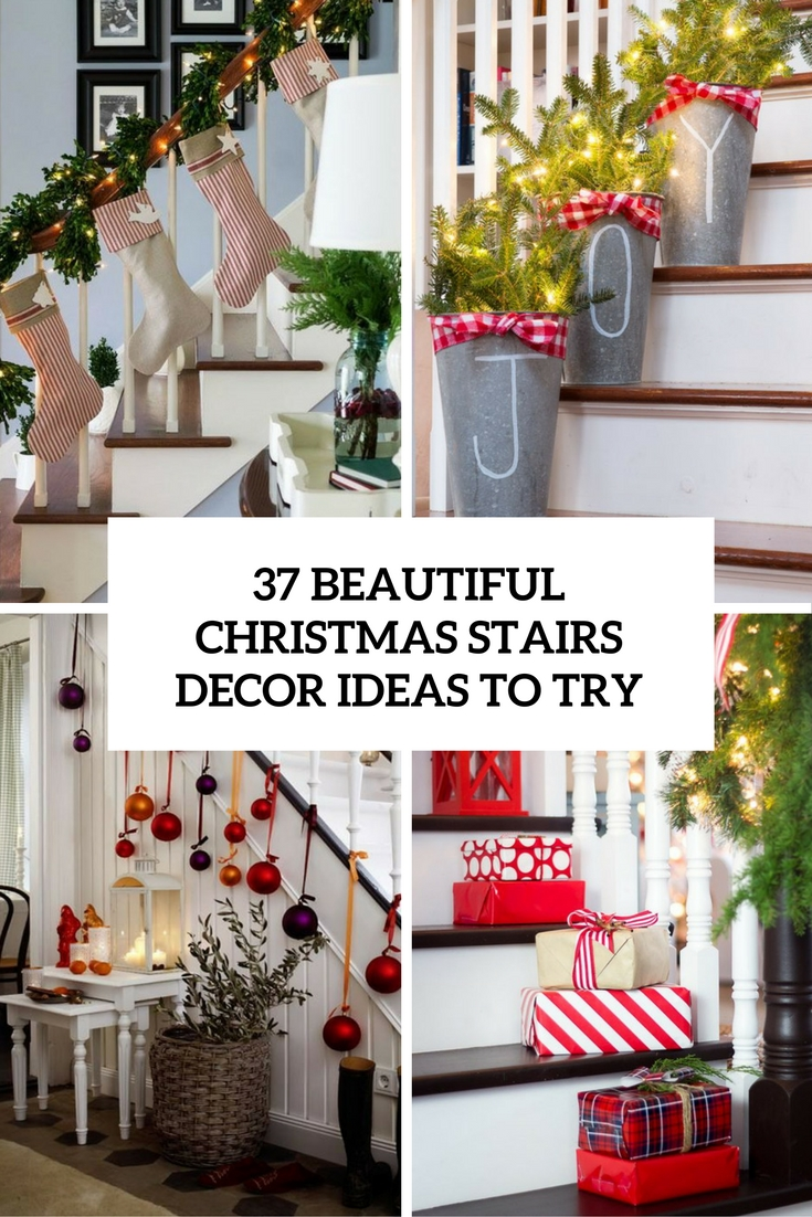 Decorating banisters for christmas with ribbon - 37 Beautiful Christmas Staircase D Cor Ideas To Try