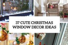 37 cute christmas window decor ideas cover