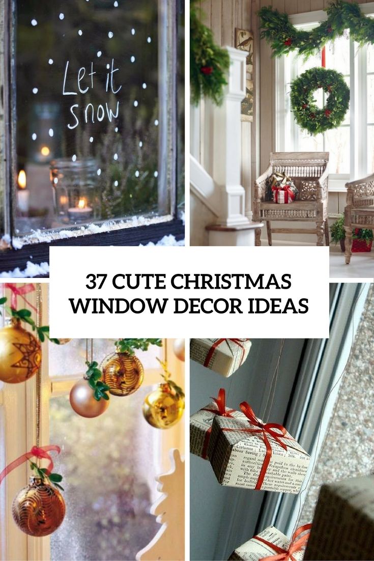 37 cute christmas window d corations digsdigs for Cute picture hanging ideas