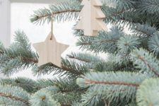 37 thick wood Christmas ornaments