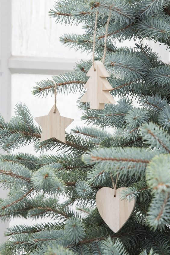 thick wood Christmas ornaments