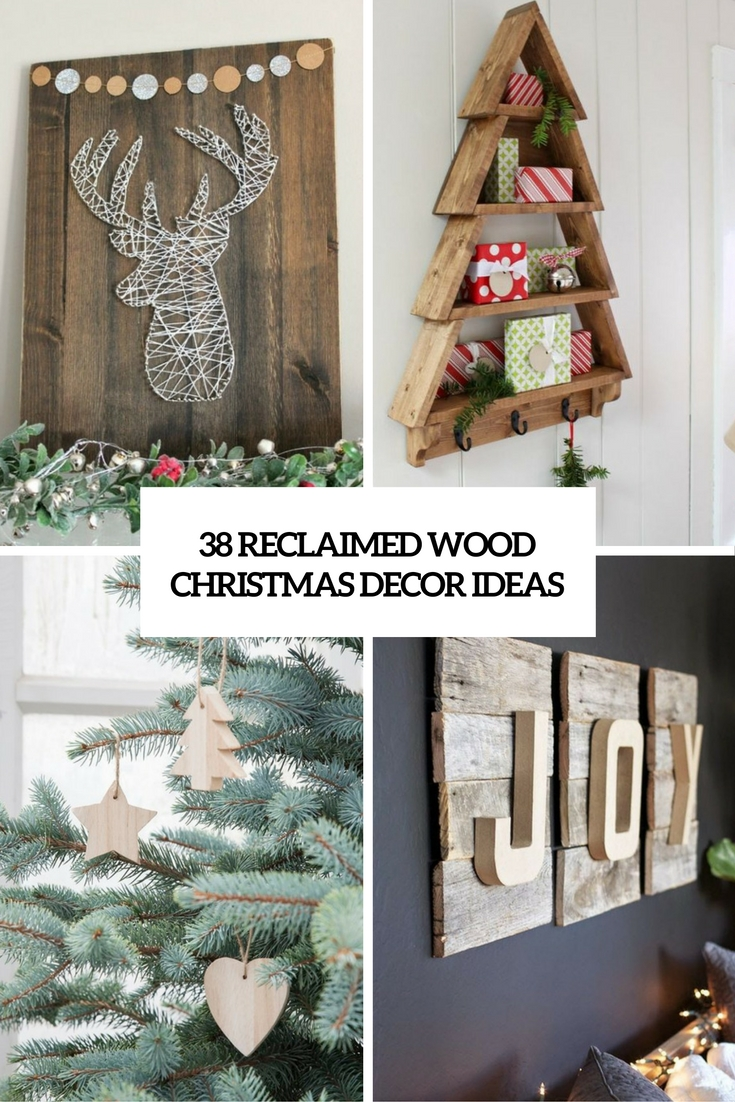 reclaimed wood christmas decor ideas cover