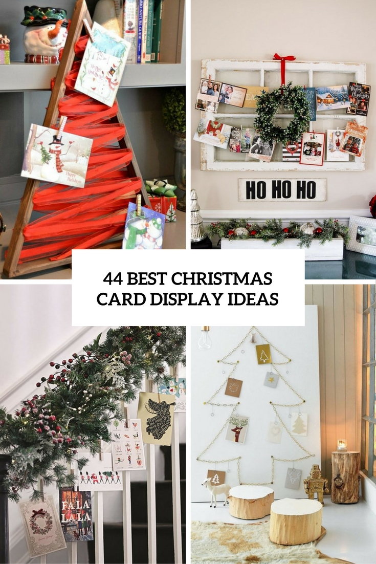 44 Best Christmas Card Display Ideas