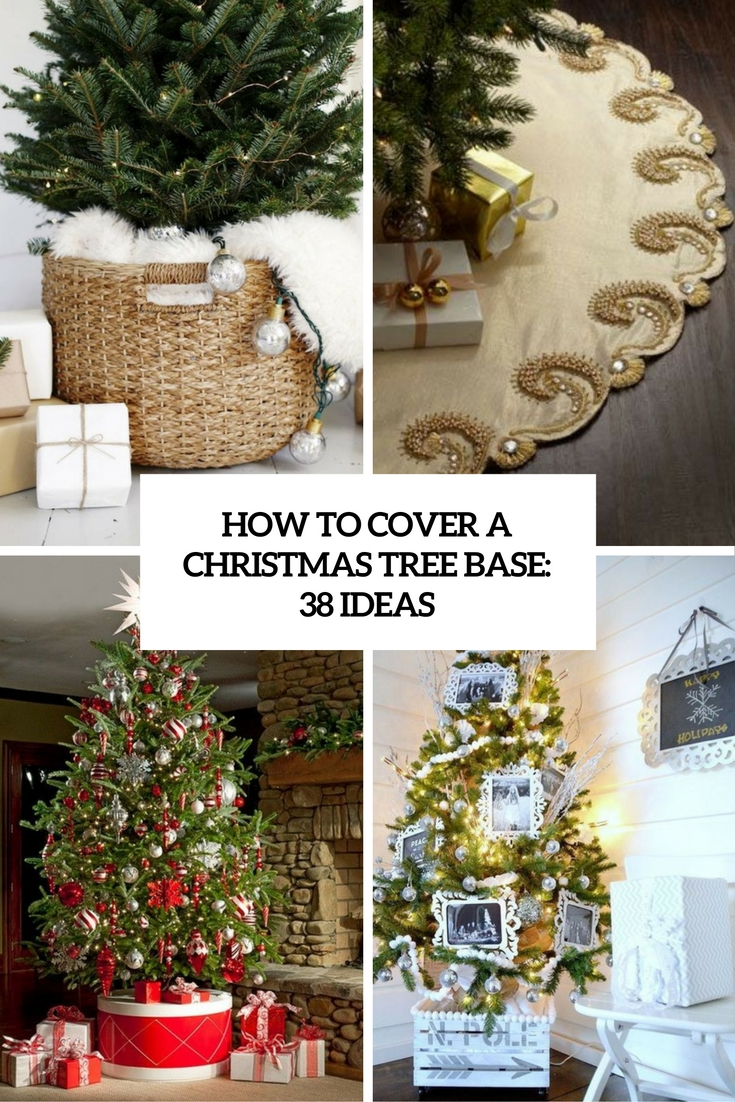 how to cover a christmas tree base 38 ideas cover