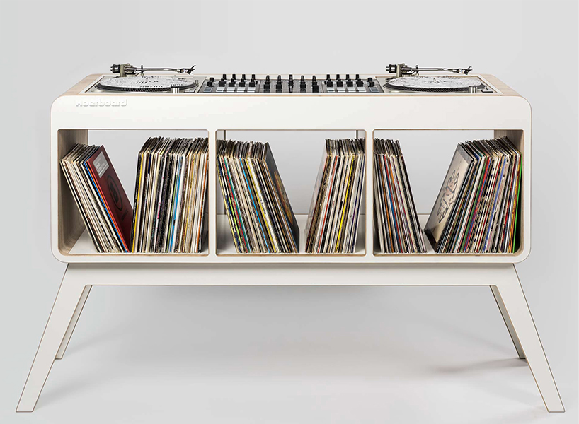 Hoerboard is a 1960s styled sideboard and DJ stand that can accomodate up to 350 records