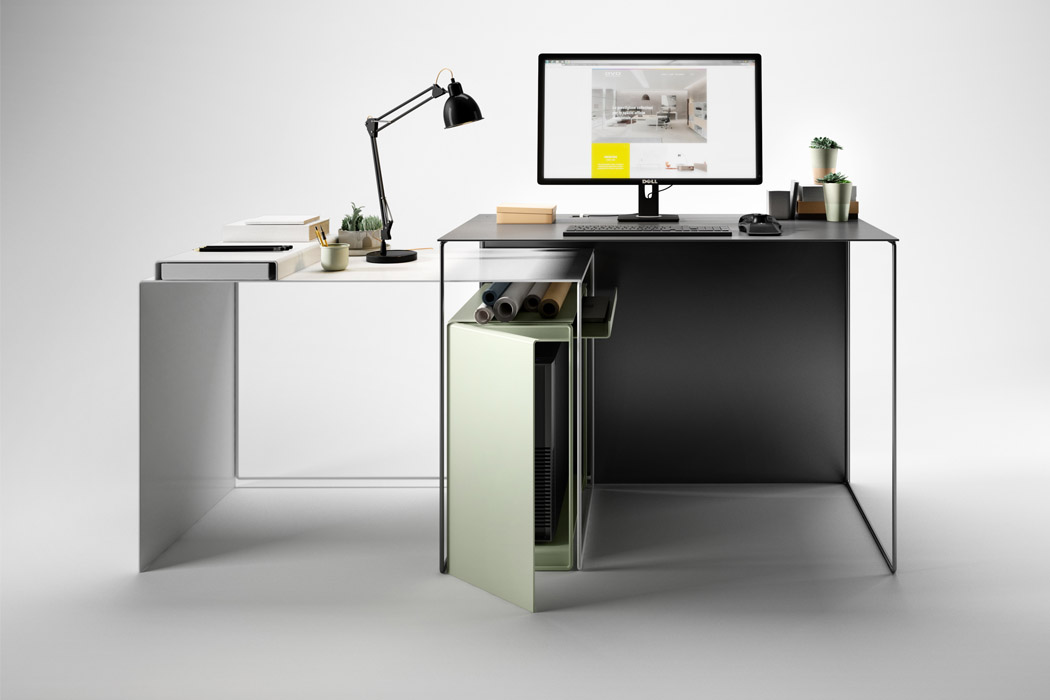 JOIN desk is suitable for every space, need and context because of its minimalist and customizable design