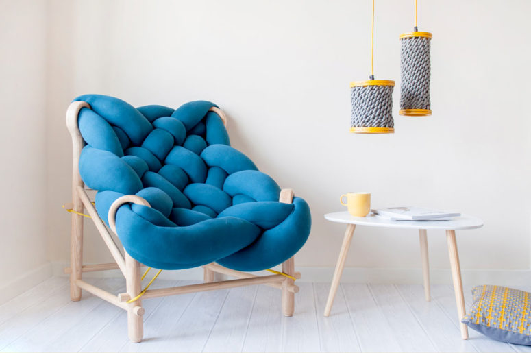 Colorful And Playful Furniture With Knit Elements