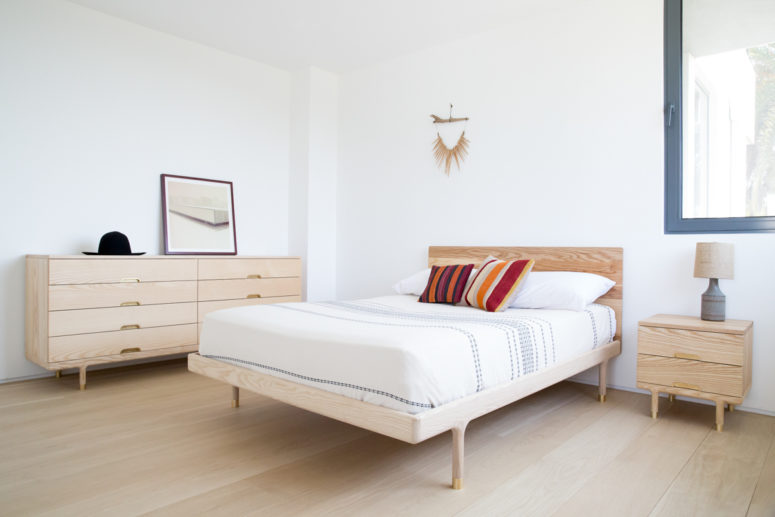 The Simple Collection is a bedroom series from ash wood and brass, stripped down to essentials