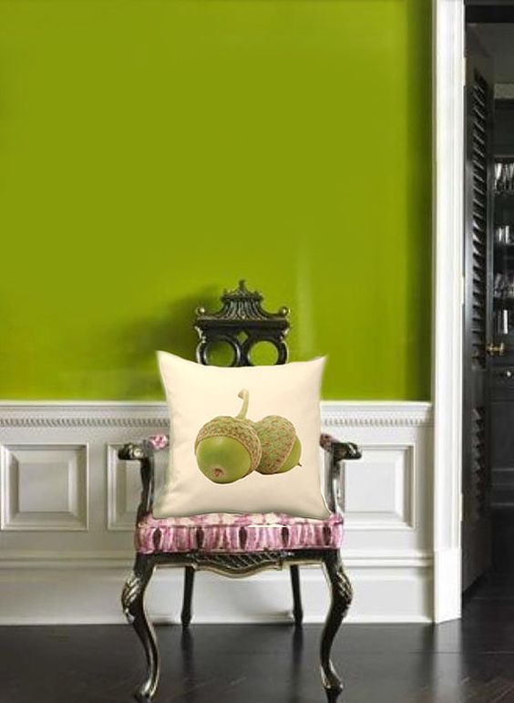 a greenery accent wall is a trendy way to make a statement