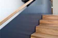 02 dark metal balustrade with a wooden handrail