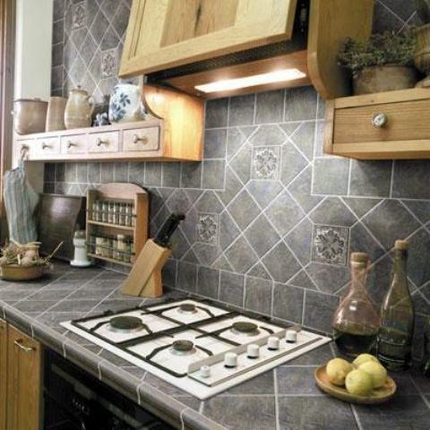 Hot Décor Trend: 24 Tile Kitchen Countertops - DigsDigs