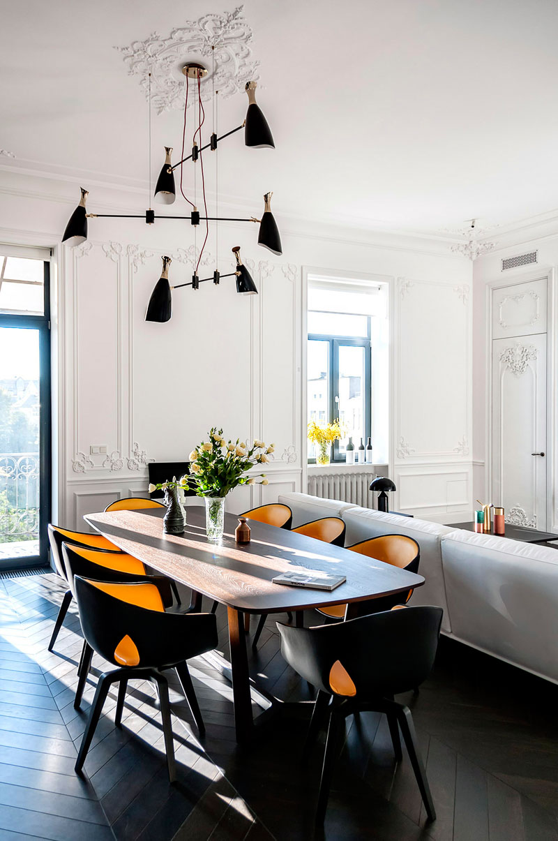 I totally admire the way modern furniture and lamps look in the stucco walls and ceilings