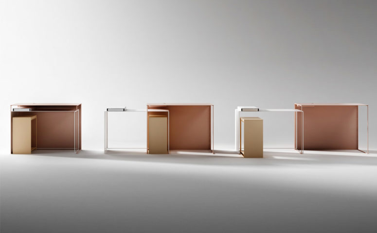 JOIN is made of panels and tubular powder-coated metal, so it's rather lightweight but durable
