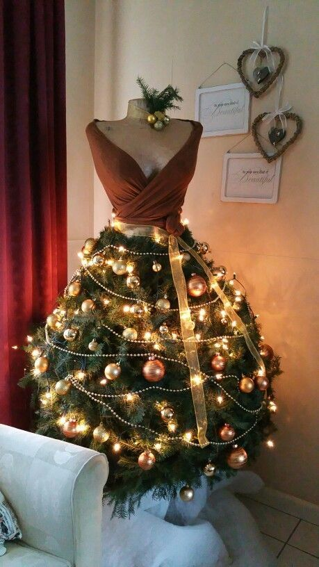 Christmas tree dress is a unique idea that is getting popularity