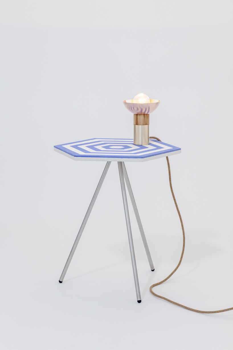Metal legs make the table stable and add a modern feel to the look