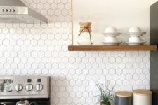 04 a white hex tile backsplash will easily give style to your kitchen