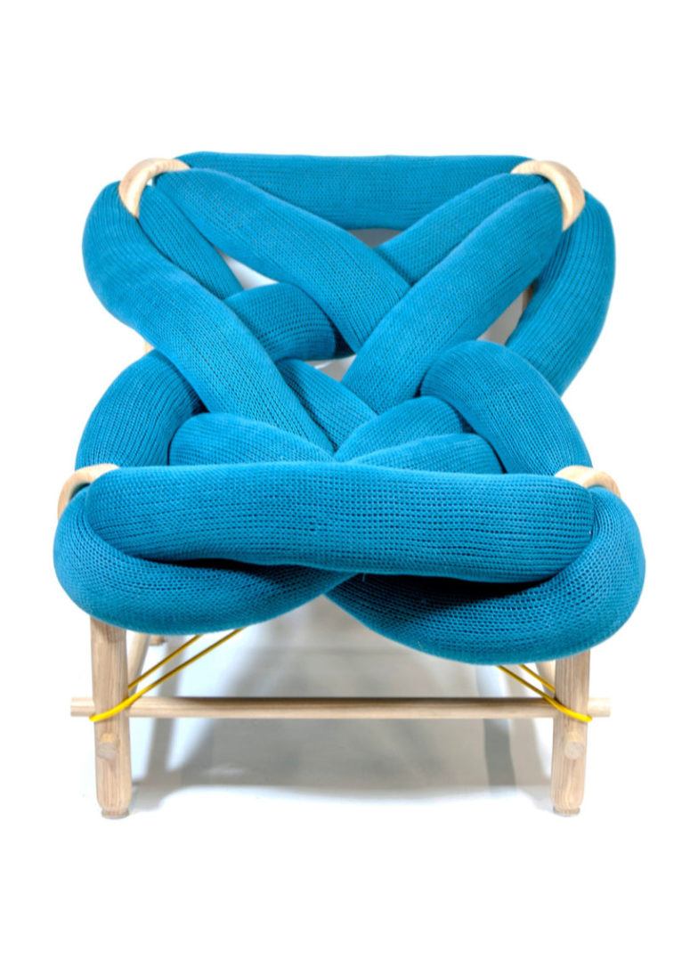There's also a knit version of the same lounge chair